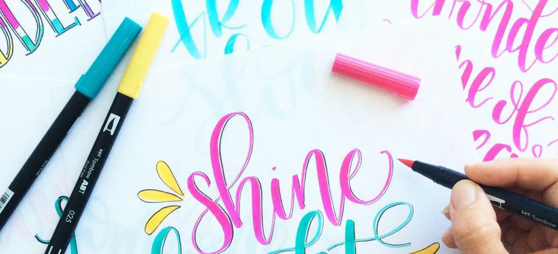 Hand lettering Tombow brush pens