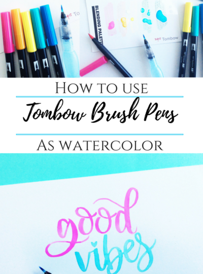 How To Use Tombow Brush Pen As Watercolor