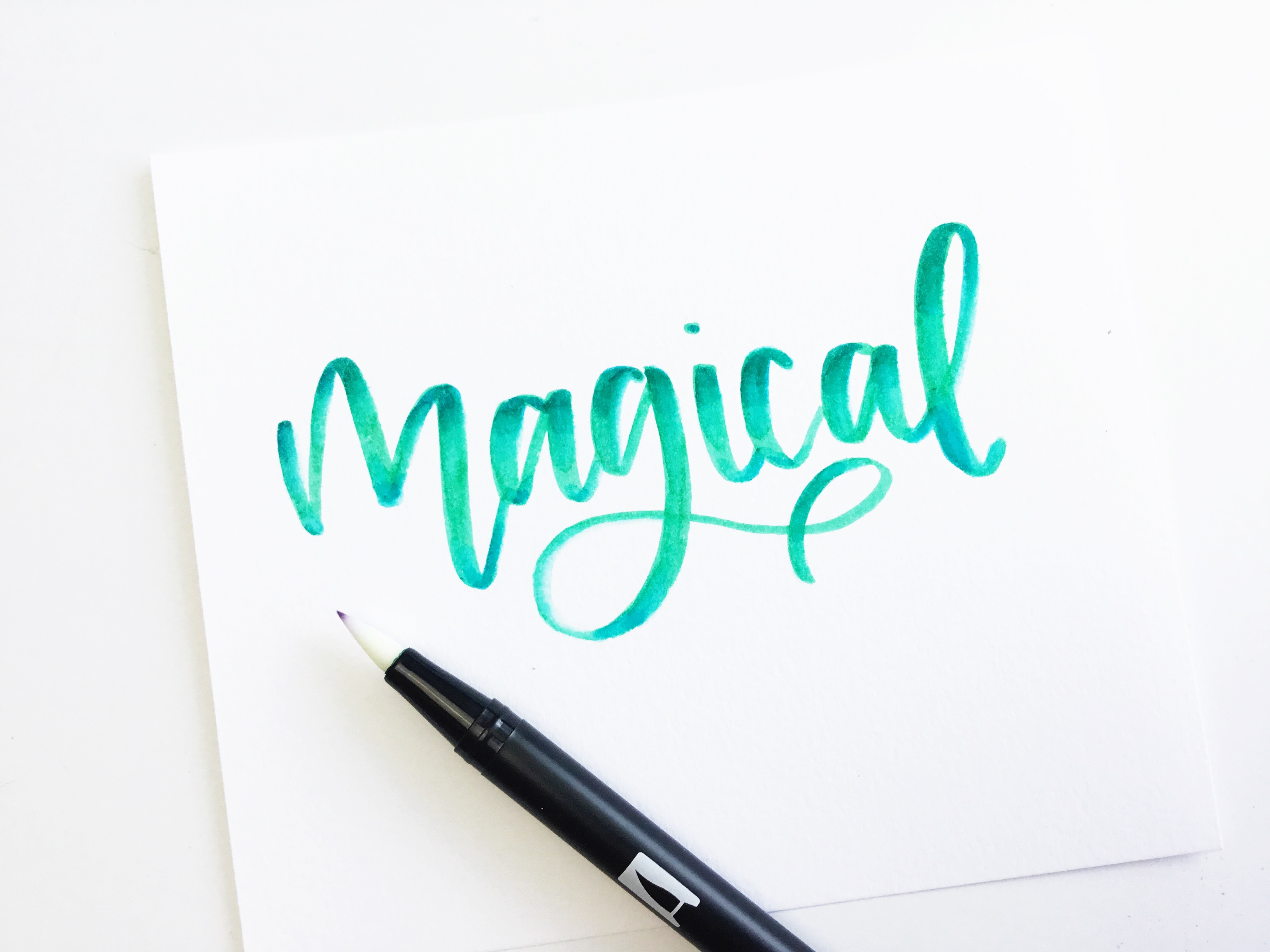 Ways to create galaxy lettering with the tombow galaxy brush pen set