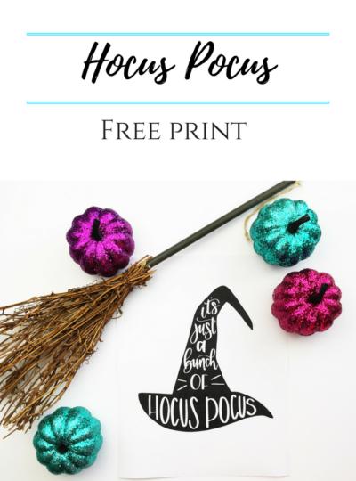 Hocus Pocus Free Print