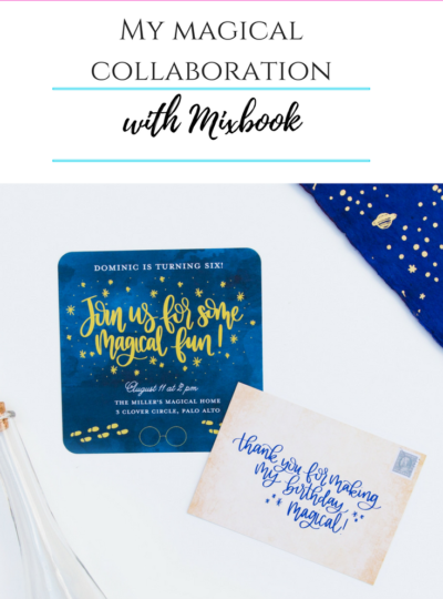 My Magical Party Invitation Collaboration with MixBook!