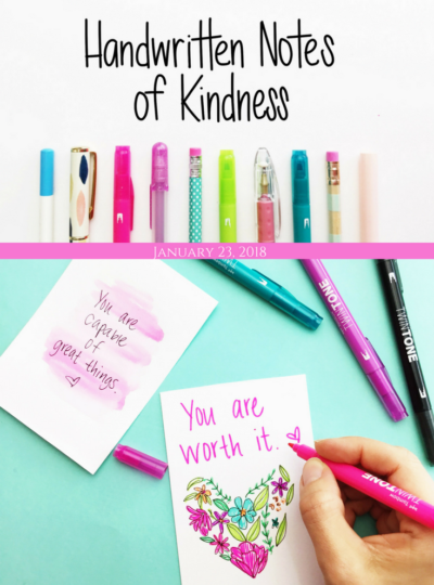 Handwritten Notes of Kindness- National Handwriting Day