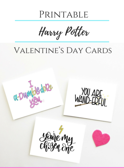Printable Harry Potter Valentine's Day Cards