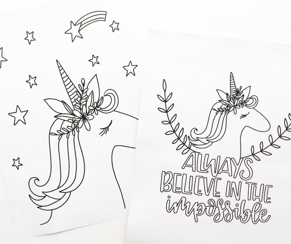 Free Printable Unicorn Coloring Sheets